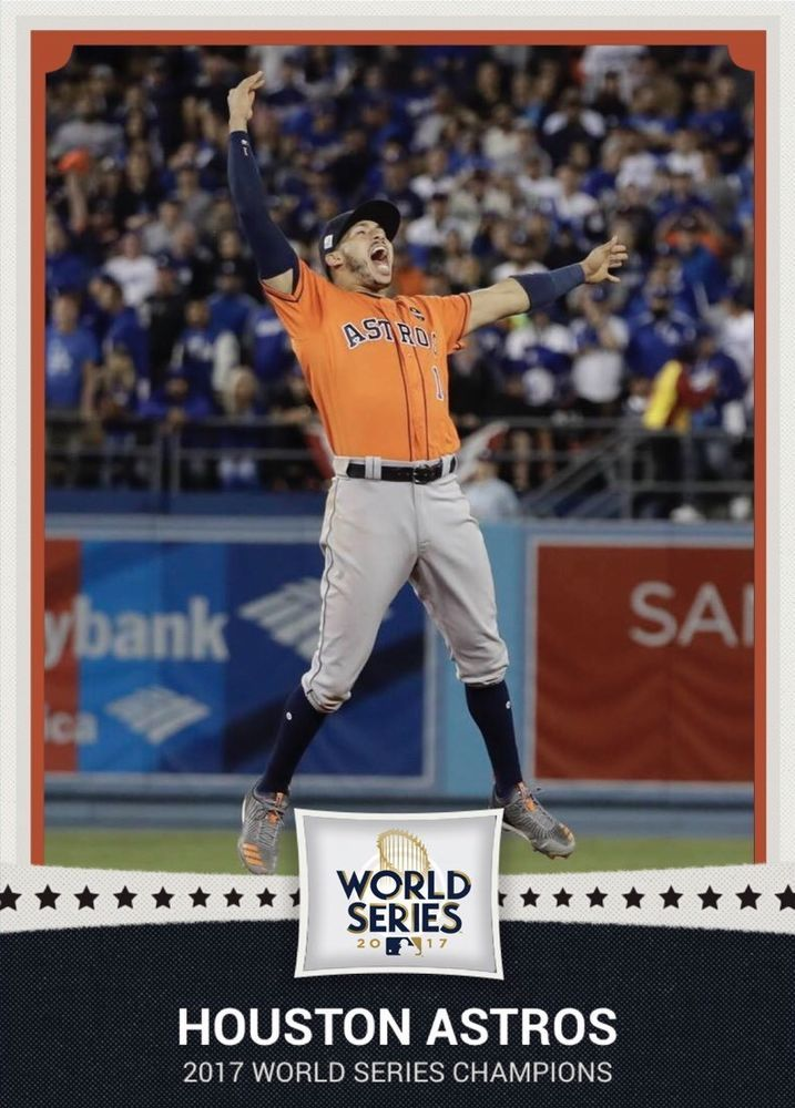 2017 Houston Astros World Series Champions 1st Baseball Card Carlos Correa #HoustonAstros