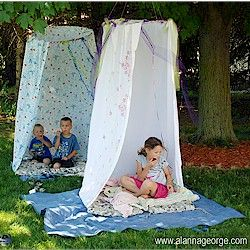 Creating A Special Space. Make this great private corner of their world outdoors in the summer and bring it inside during the cold and rainy times. Instructions at www.freekidscrafts.com