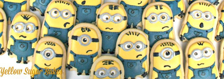 Minion cookie party favours