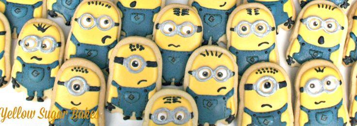 Minion cookie party favours