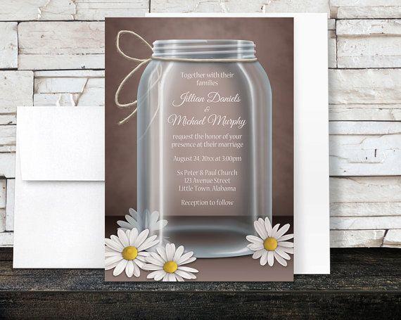 Cottage Mason Jar Wedding Invitation: Best 25+ Mason Jar Invitations Ideas On Pinterest