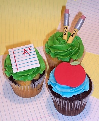 School-themed cupcakes