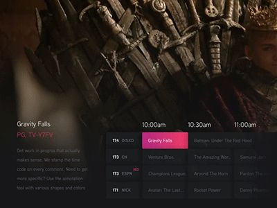 I was inspired by @Phyek's attempts to design tv ui. Cable TV interfaces are so…