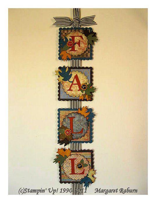 """FALL"" Home Decor Wall Hanging"
