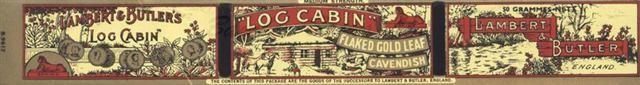 Old Shop Stuff | Old-advertising-ephemera-printers-blank-Lambert-and-Butler-Log-Cabin for sale (19512)