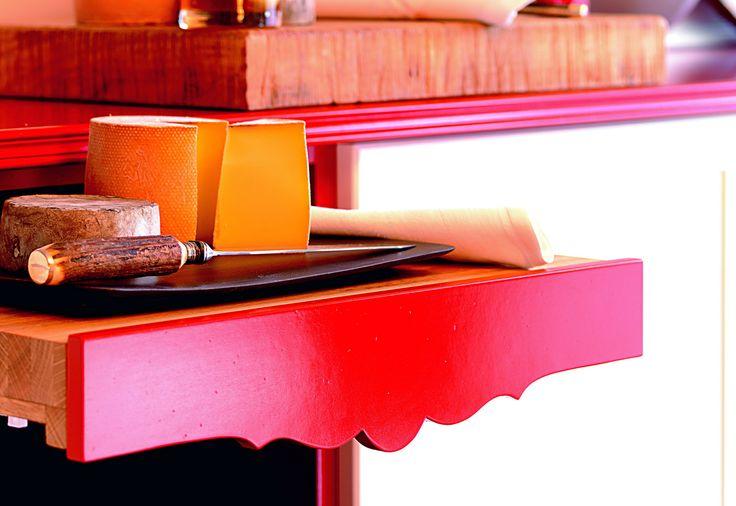 #cucina #marchetti #grandcuvèe #farfalle #butterfly #arredamento #stile #legno #padouk #wengè #rosso #ciliegio #rovere #laccato #red
