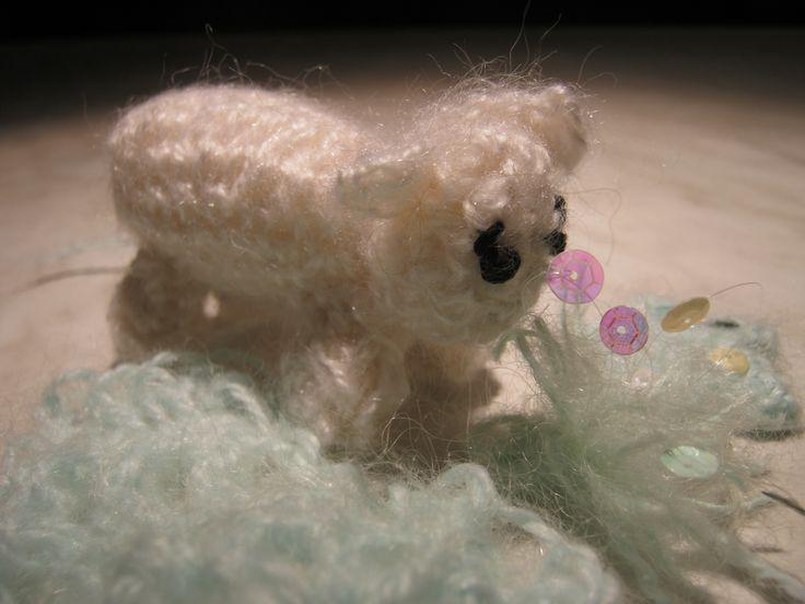 """White Matina sheep"" -  angora wool"
