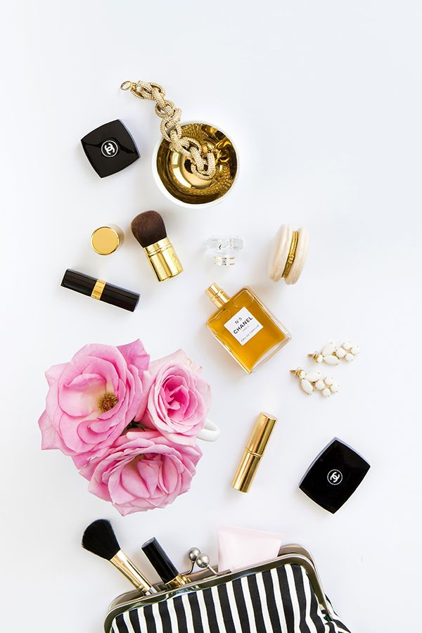 Product Styling and Photography by Shay Cochrane 2014 www.shaycochrane.com   Chanel, gold, fashion, pink