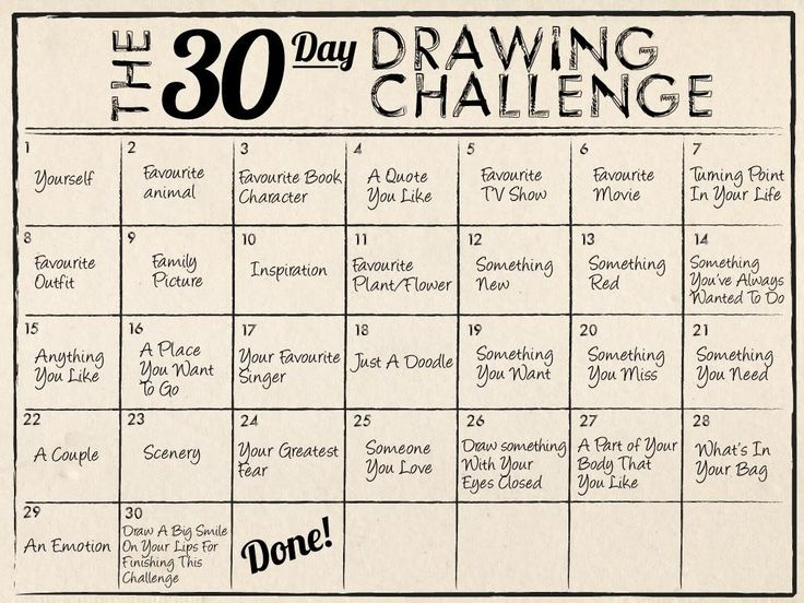 The 30 day drawing challenge