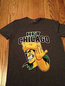 Funny Green Bay Packers Cartoons | Green Bay Packers tshirt -S - Hate The Chicago Bears - Funny NFL Shirt