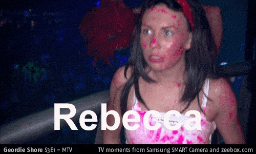 Take a look at this TV moment from zeebox.com: Geordie Shore S1 E1: Rebecca #GeordieShore