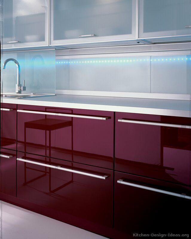 Modern Red Kitchen Cabinets #08 (Alno.com, Kitchen-Design-Ideas.org)