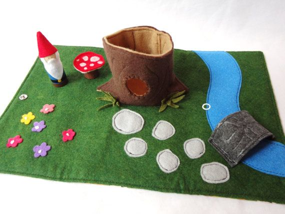 Gnome Home Travel Play Mat for On-the-Go on Etsy, $50.19