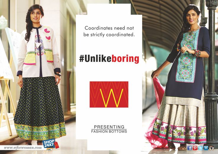 Life and fashion needs a little mix and match. #Unlikeboring #MixAndMatch #Fashion #Ethnic