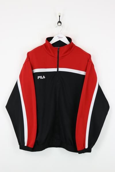 Fila Track Jacket Black/Red XL