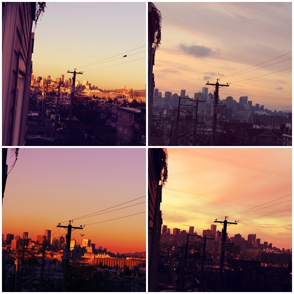 Same place, same sunset, different time
