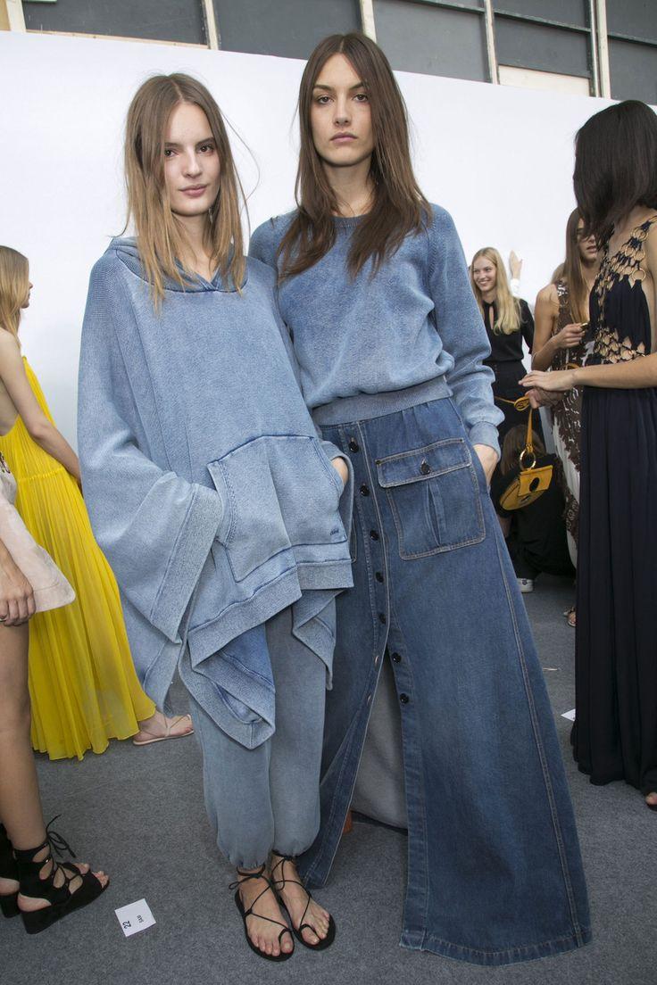 209 backstage photos of Chloé at Paris Fashion Week Spring 2015.