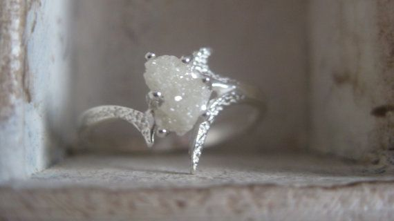 Raw rough uncut diamond solitaire by EnzoLuccati on Etsy