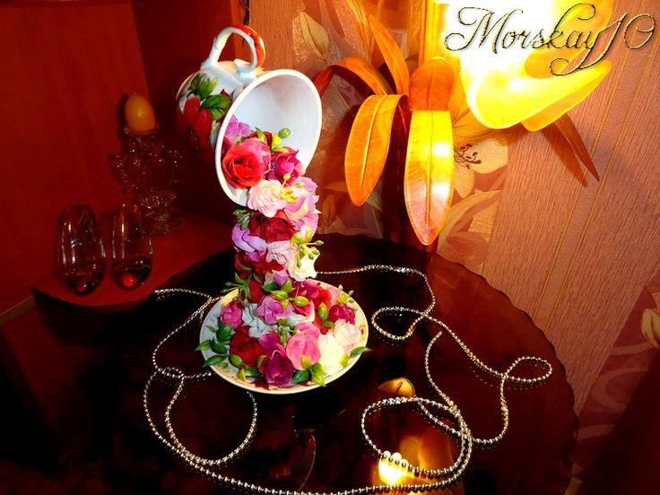 """Чашки проливашки """"Цветочные"""" от Morskay10"""
