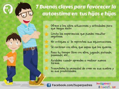 7 Buenas claves para favorecer la autoestima en tus hijos e hijas