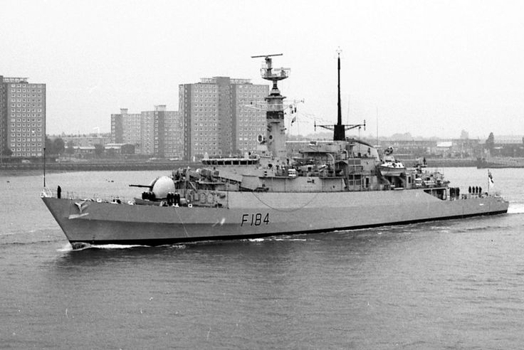 F184 HMS Ardent, type 21 frigate