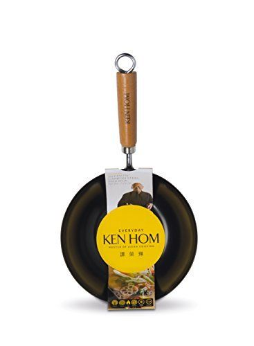 KEN HOM Nonstick Carbon Steel Small Wok  Asian Stir Fry Pan with Handle  8 Black by Ken Hom -- Check out the image by visiting the link.Note:It is affiliate link to Amazon.