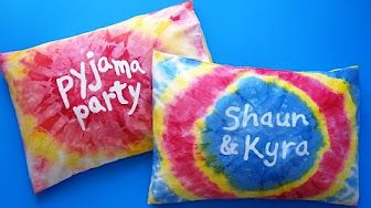 Tie-Dye Pillow Cases & T-Shirts - YouTube