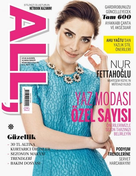 Nur Aysan - All Magazine Cover [Turkey] (April 2013)