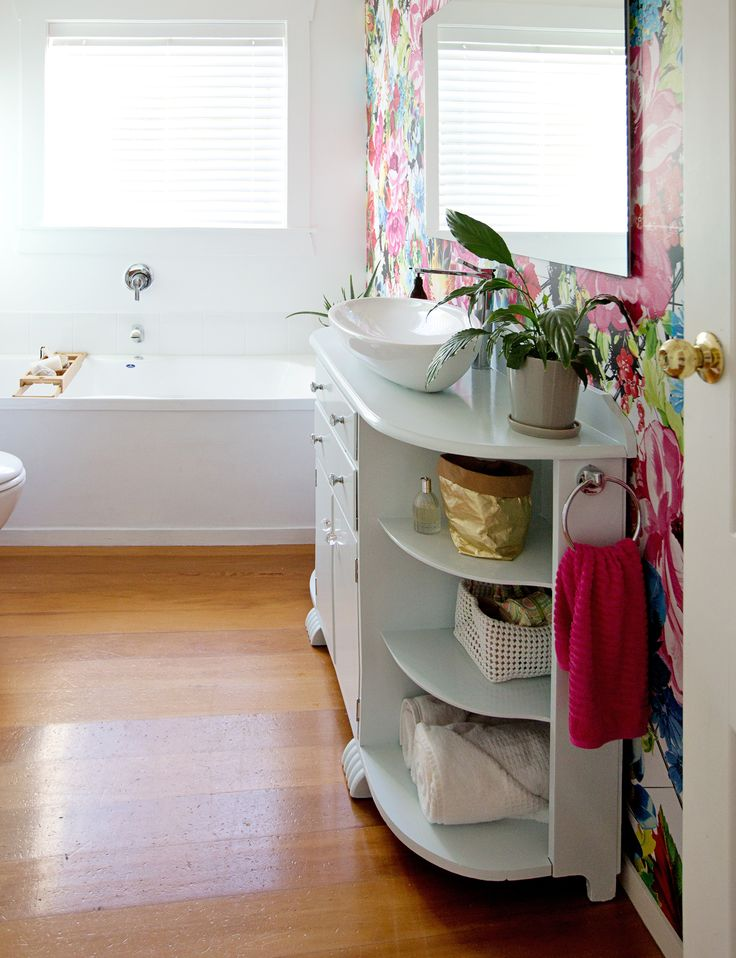 A budget-friendly bathroom revamp with a floral and flirty theme - Homes To Love