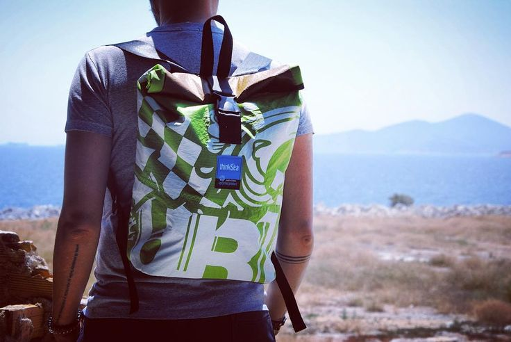 Have a nice weekend you all! #thinksea #backpack #reuse #recycle #unique #handcraft #urbanfashion #summertime #madeingreece #paros #parosurfclub #windsurf #kiteboarding #sail #beachlife Photo by Olga Aggelopoulou