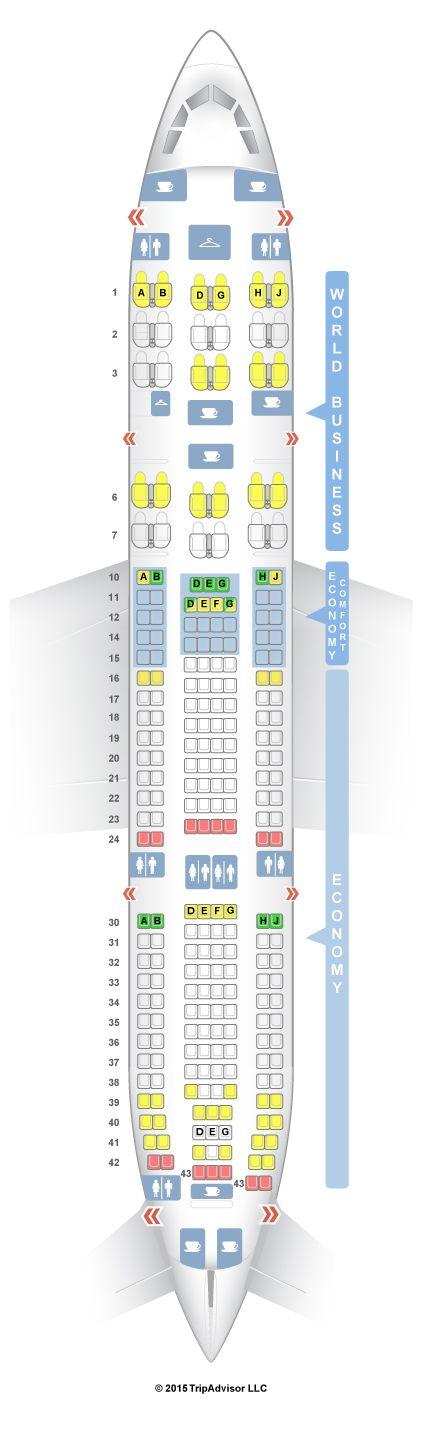 SeatGuru Seat Map KLM Airbus A330-200 (332)