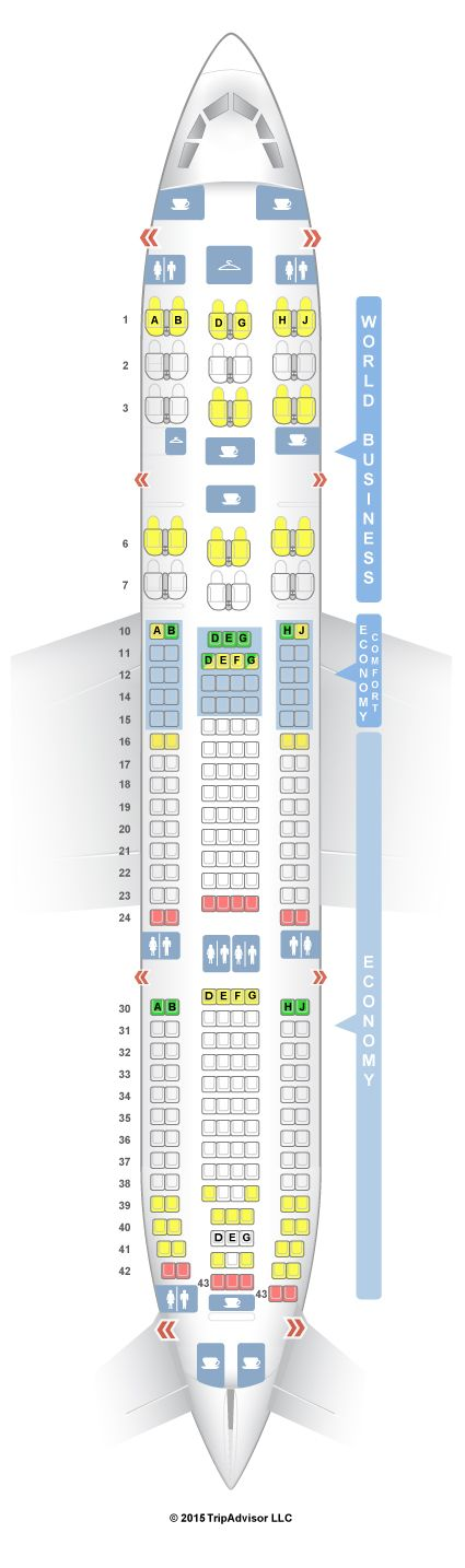 SeatGuru Seat Map KLM Airbus A330-200 (332)