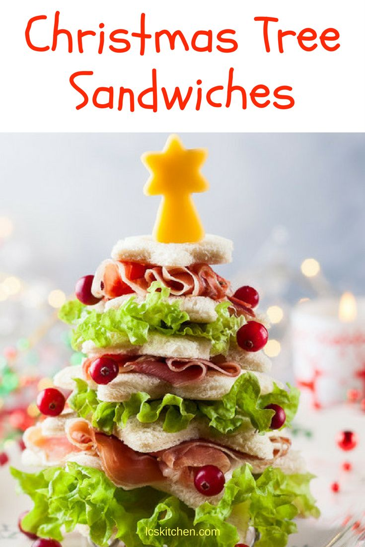 The Christmas Tree Sandwich Recipe your guests will love #christmas #easyrecipes #recipes