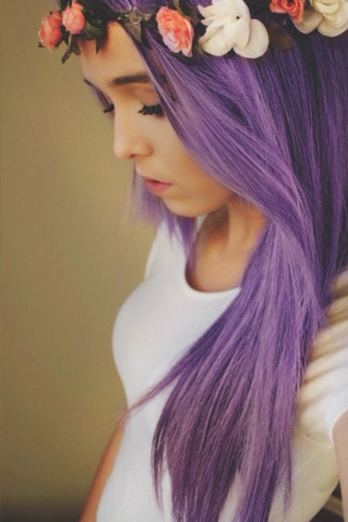 COLORFUL HAIR purple done right | photoshopped but still pretty.
