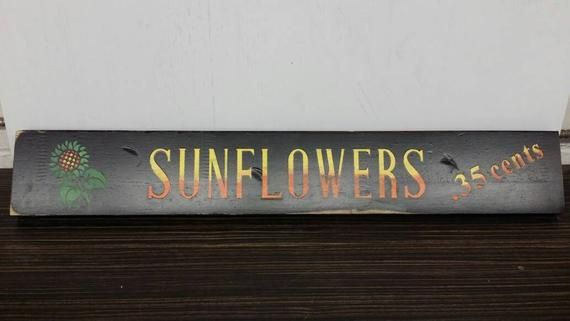 Wooden Handmade Sunflower Sign For Your She Shed Cute Signs