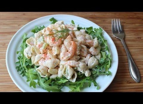 Easy Macaroni Salad with Shrimp Recipe - Daily Cooking Recipes