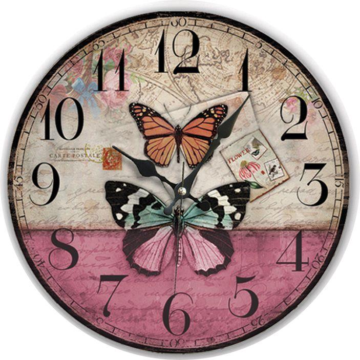 Kelebek Antik Ahşap Duvar Saati  Ürün Bilgisi;  MDF gövde Sessiz akar saniye Çap 35 cm. Çok şık ve dekoratif ahşap duvar saati Ürün resimde olduğu gibidir