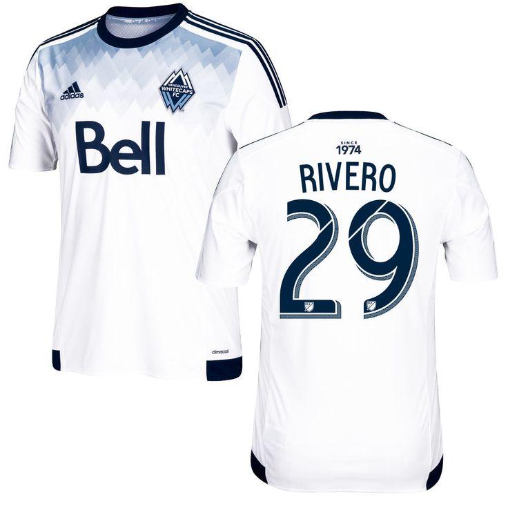 Octavio Rivero 29 Vancouver Whitecaps FC 2016/17 Home Soccer Jersey Deep Sea White