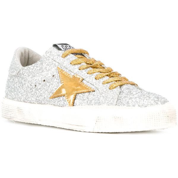 Golden Goose Deluxe Brand May sneakers featuring polyvore women's fashion shoes sneakers round toe sneakers star sneakers golden goose shoes leather trainers lacing sneakers