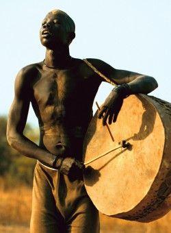 Drum Dinka Drummer, South Sudan #music #musician
