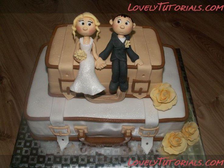 """МК торт """"Свадебные чемоданы"""" -Suitcase wedding cake - Мастер-классы по украшению тортов Cake Decorating Tutorials (How To's) Tortas Paso a Paso"""