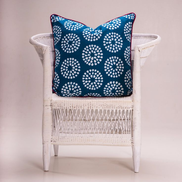 Batik Cushion - 'Cebi Circles'Teal