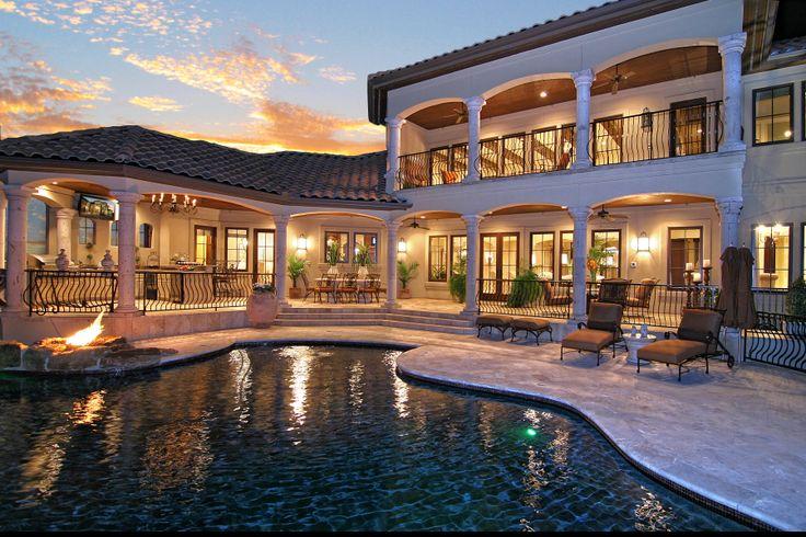 Tuscan Inspired Horseshoe Bay Lakeside OUtdoor Living and Pool by Zbranek & Holt Custom Homes, Horseshoe Bay Luxury Home Builder