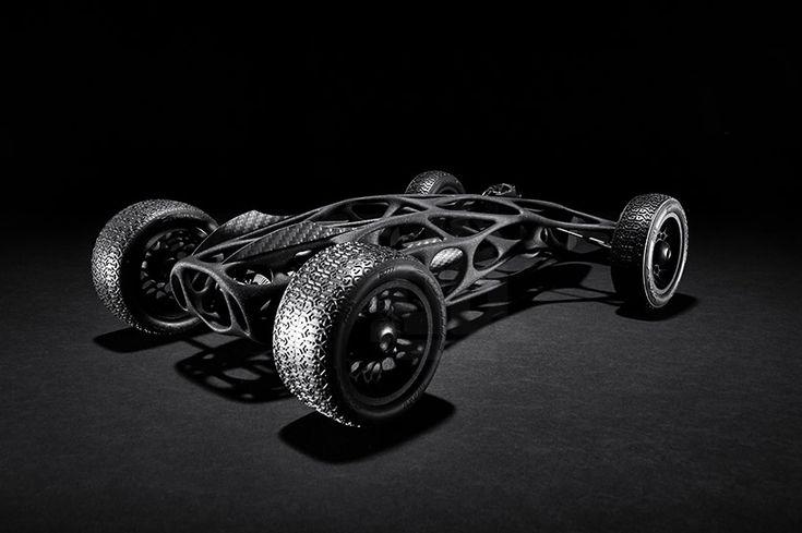 Rubber band-powered cirin RC car fuses mechanical design sculpture #rccars