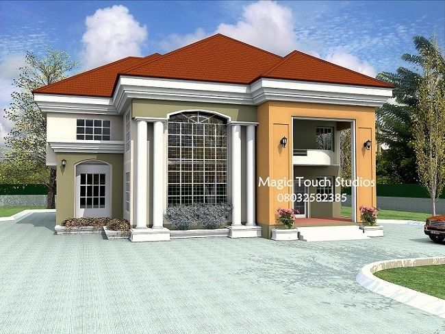 Bungalow Designs In Nigeria 6 Bedroom Bungalow House Plans In Nigeria Bungalow Design Bungalow House Plans Bungalow House Design