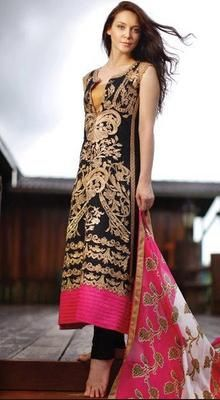 Unique Black Chudidar Kameez