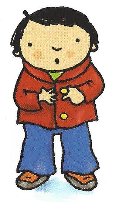 Mijn jas aan, knap gedaan! (prent 4) Delphine Wieme Uit: 'Het kleinste maatje'