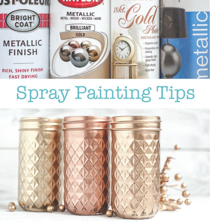 Gold spray paint comparison and spray painting tips!