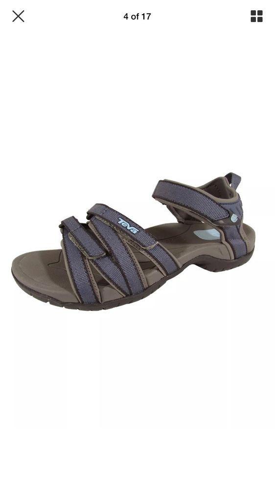 ddcec49ac5fe Teva 4266  Tirra  Bering Sea Blue Strappy Outdoor Hiking Sandal Women Size 9
