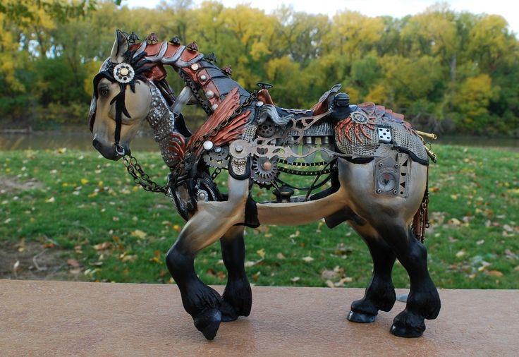 Steamjunk horse by FriesianFury.deviantart.com on @deviantART